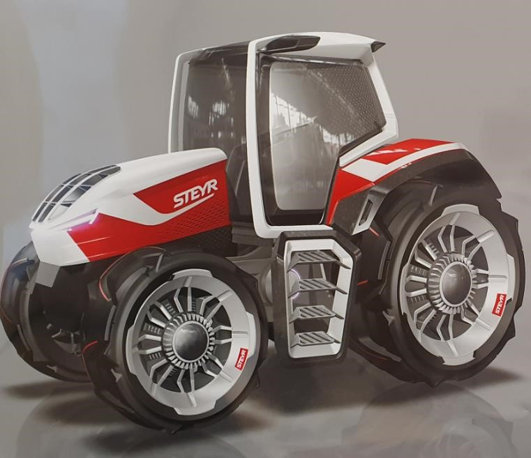 Steyr: Hybrid Traktor mit innovativem Antriebskonzept